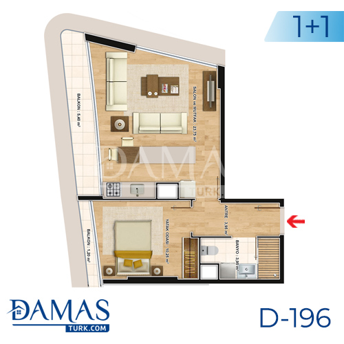 Damas Project D-196 in Istanbul - Floor plan picture  02
