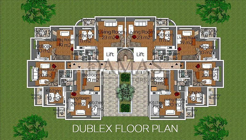 Damas 605 Project in Antalya - Floor Plan 02