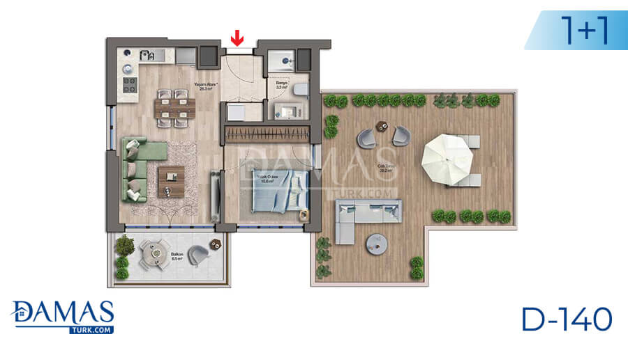 Damas Project D-140 in Istanbul - Floor plan picture 02