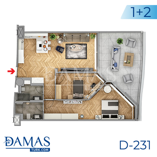 Damas Project D-231 in Istanbul - Floor plan picture  02