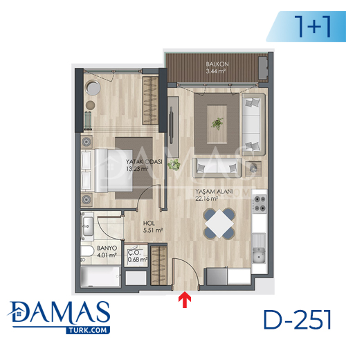 Damas Project D-251 in Istanbul - Floor plan picture 02