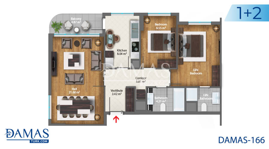 Damas Project D-166 in Istanbul - Floor plan picture  03