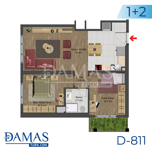 Damas Project D-811 in Istanbul - Floor plan picture 03