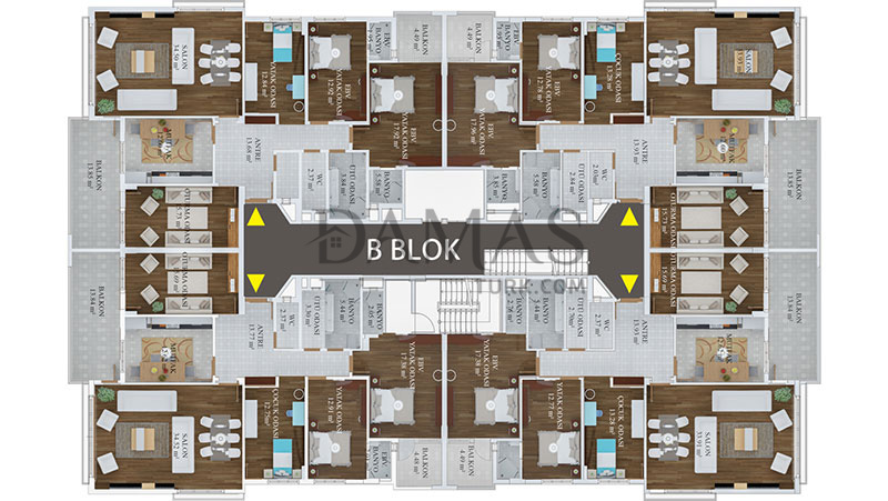 Damas 406 Project in Trabzon - Floor Plan 03