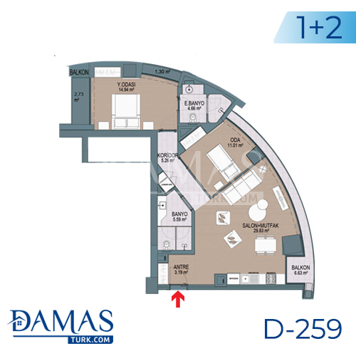 Damas Project D-259 in Istanbul - Floor plan picture 03