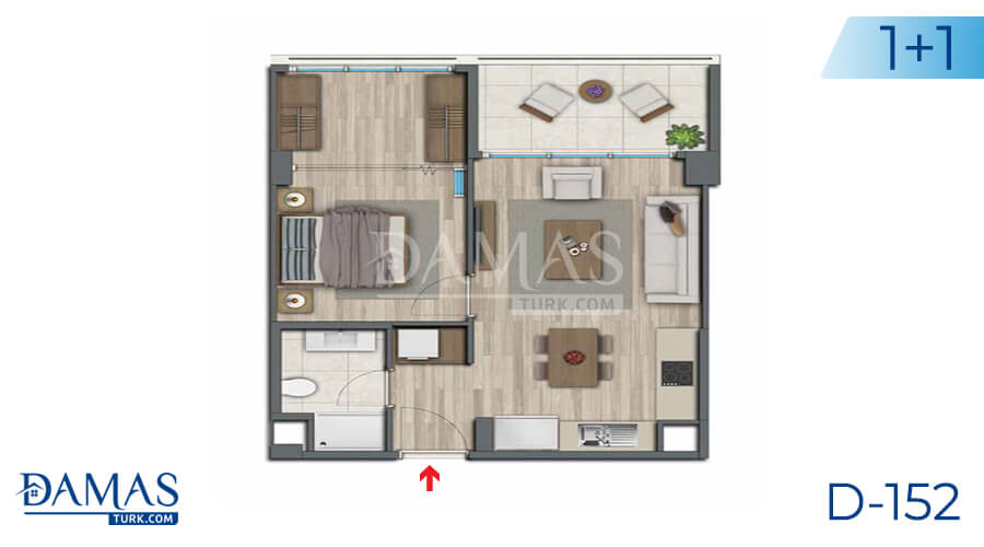 Damas Project D-152 in Istanbul - Floor plan picture 03