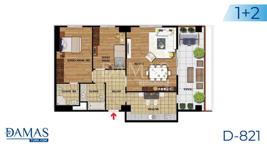 Damas Project D-821 in Istanbul - Floor plan picture 03