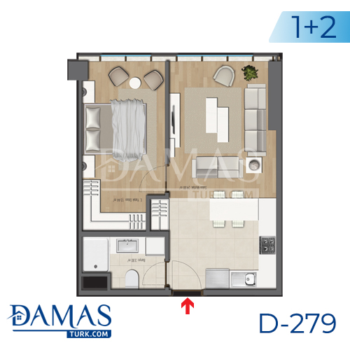 Damas Project D-279 in Bursa - Floor plan picture 03