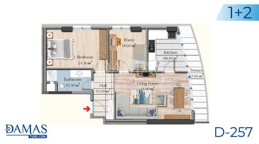 Damas Project D-257 in Istanbul - Floor plan picture 03