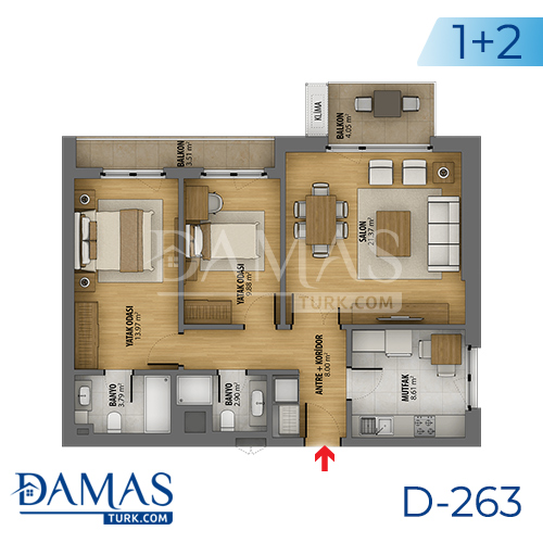 Damas Project D-263 in Istanbul - Floor plan picture 03