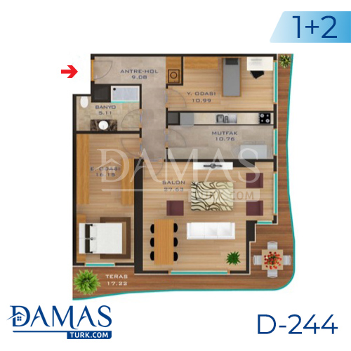 Damas Project D-244 in Istanbul - Floor plan picture  03