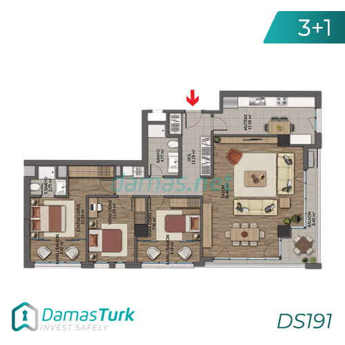 Istanbul Property - Turkey Real Estate - DS191 || damas.net 05