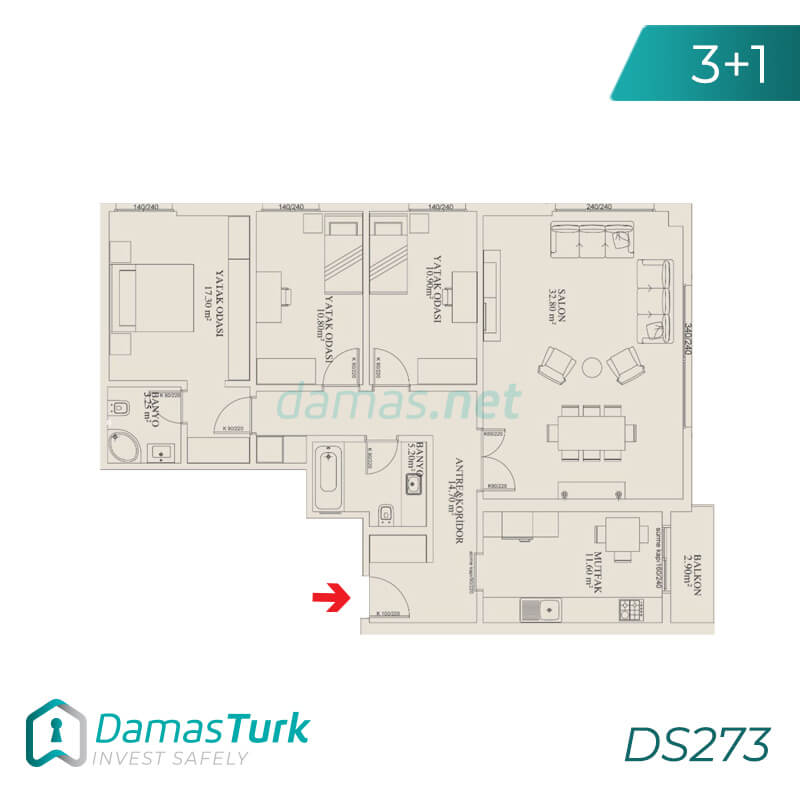 Ready to move project with sea views in istanbul , beylikduzu  district DS273 || damas.net 03