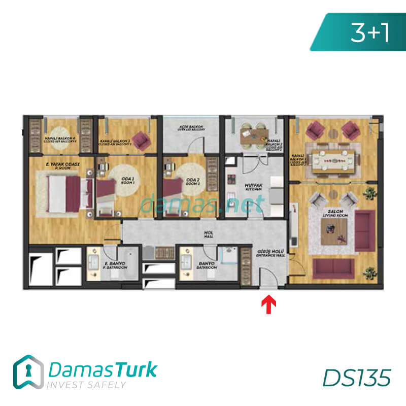 Istanbul Property - Turkey Real Estate - DS135 || damas.net 03