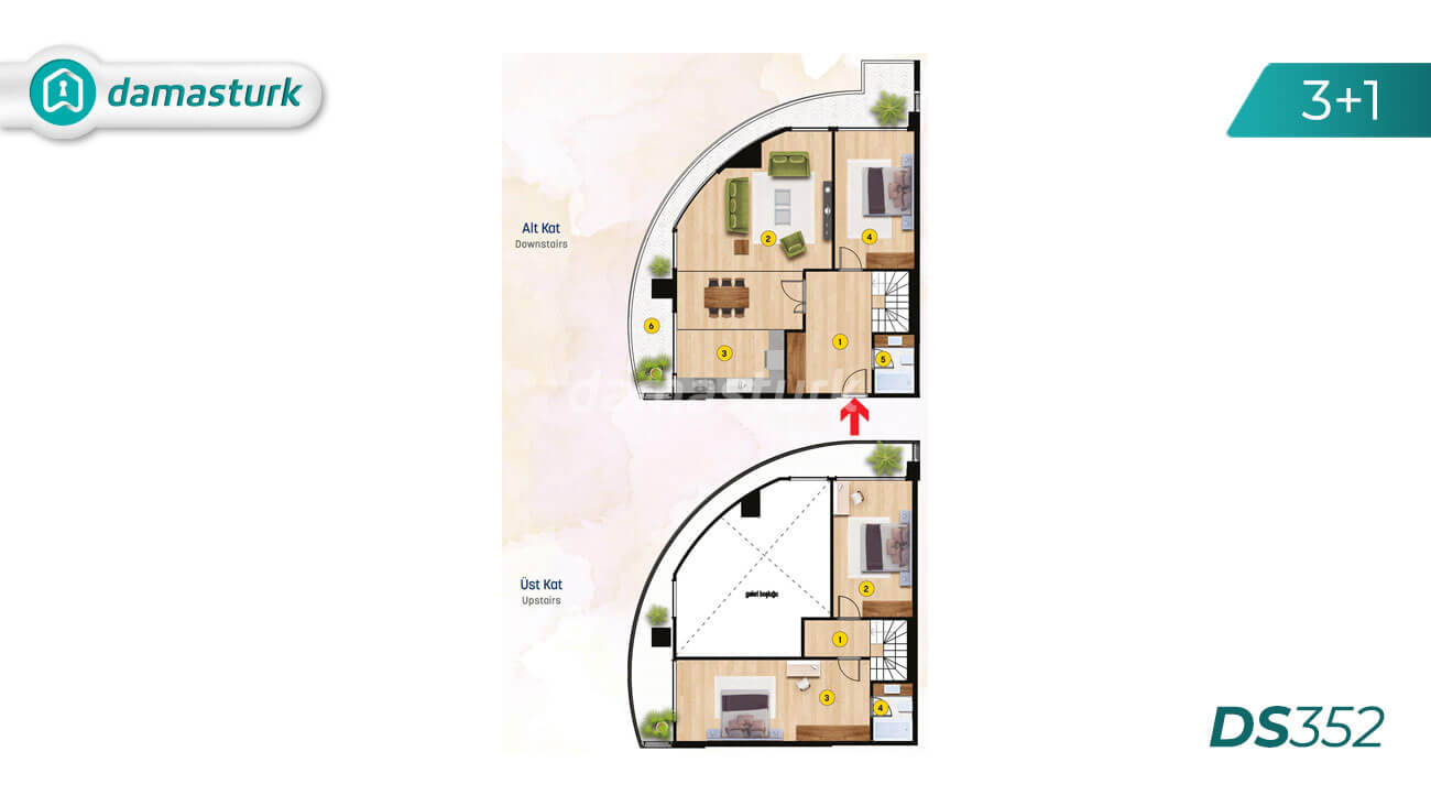 Apartments for sale in Turkey - Istanbul - the complex DS352 || damasturk Real Estate Company 03