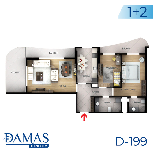 Damas Project D-199 in Istanbul - Floor plan picture  03