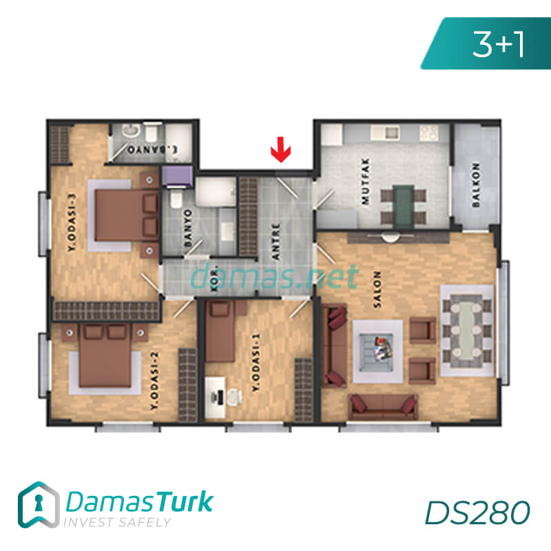 Apartments complex investment is ready to live freely with views of Istanbul European büyükçekmece area DS280    damas.net 02