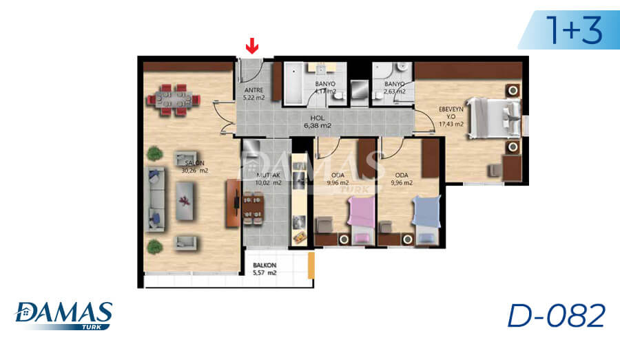 Damas Project D-082 in Istanbul - Floor Plan picture 02