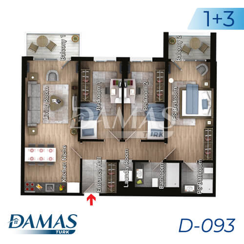 Damas Project D-093 in Istanbul - Floor Plan picture 04
