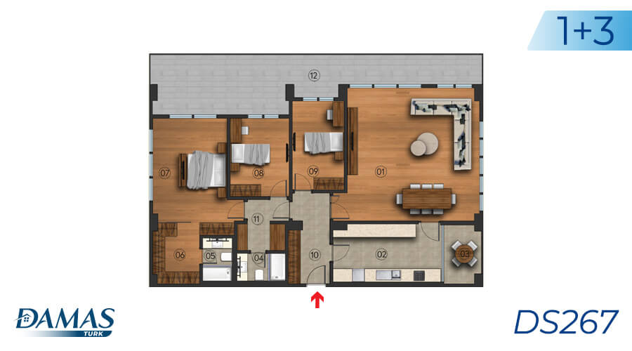 Damas Project DS267 in Istanbul - Floor Plan picture 02