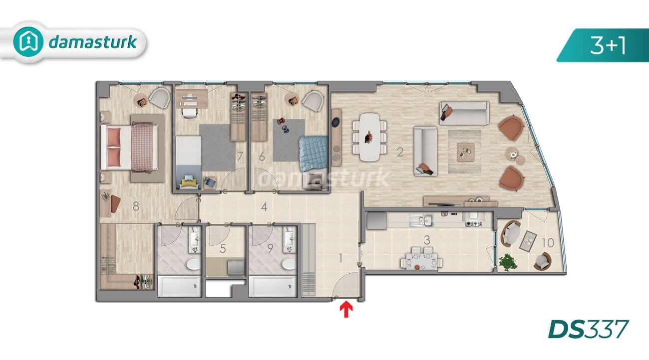 Apartments for sale in Turkey - Istanbul - the complex DS337 || damasturk Real Estate Company 03