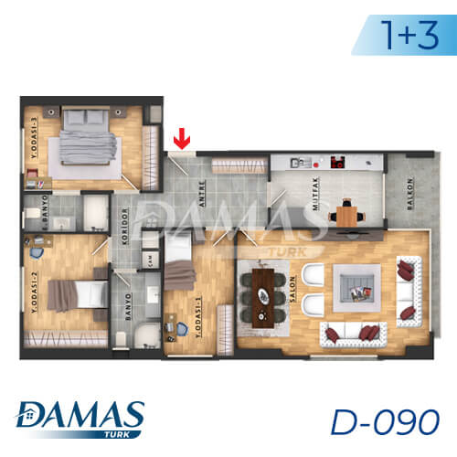 Damas Project D-090 in Istanbul - Floor Plan picture 02