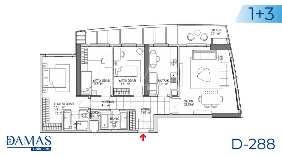 Damas Project D-288 in Istanbul - Floor plan picture 03