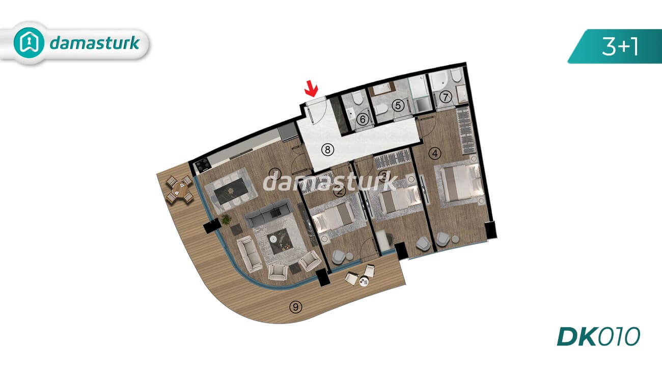 Apartments for sale in Turkey - Kocaeli - complex DK010  || damasturk Real Estate Company 03