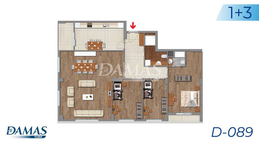 Damas Project D-089 in Istanbul - Floor Plan picture 02