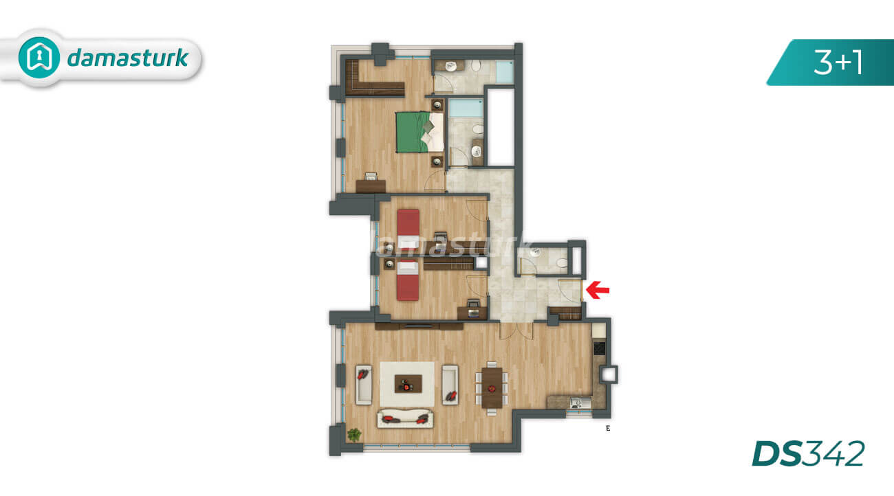 Apartments for sale in Turkey - Istanbul - the complex DS342 || damasturk Real Estate Company 05