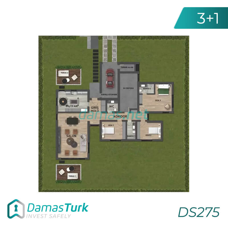 Under construction Luxurious villa complex  by installments in istanbul ,buyukcekmece DS275 || damas.net 01