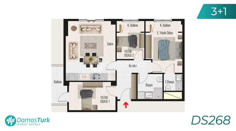 Damas Project DS268 in Istanbul - Floor Plan picture 03