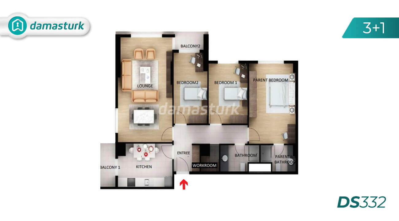 Apartments for sale in Turkey - the complex DS332 || damasturk Real Estate Company 03