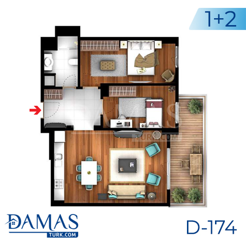 Damas Project D-174 in Istanbul -Floor plan picture  03