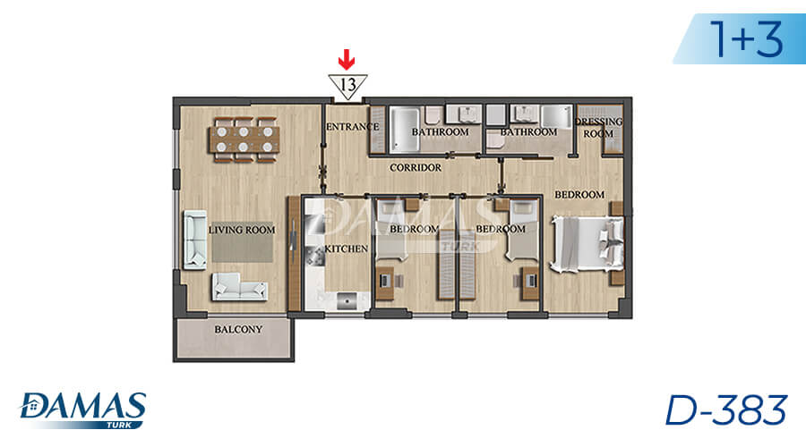 Damas Project D-383 in Istanbul - Floor Plan picture 04