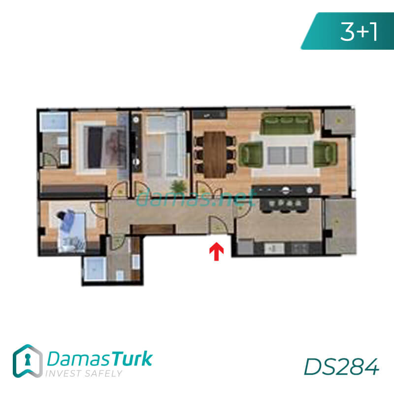 A complex of ready to move apartments and shops in Istanbul European area, Beylikdüzü DS284    damas.net 02