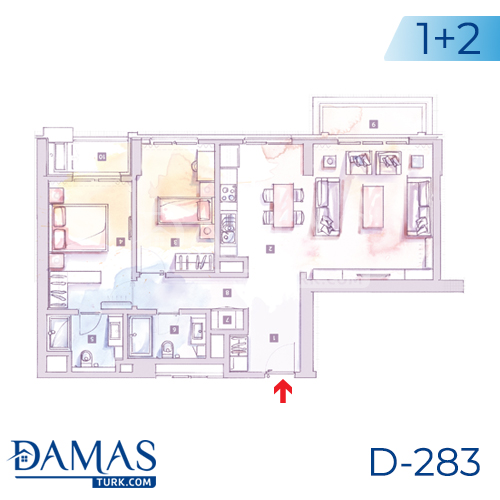 Damas Project D-283 in Istanbul - Floor plan picture 03