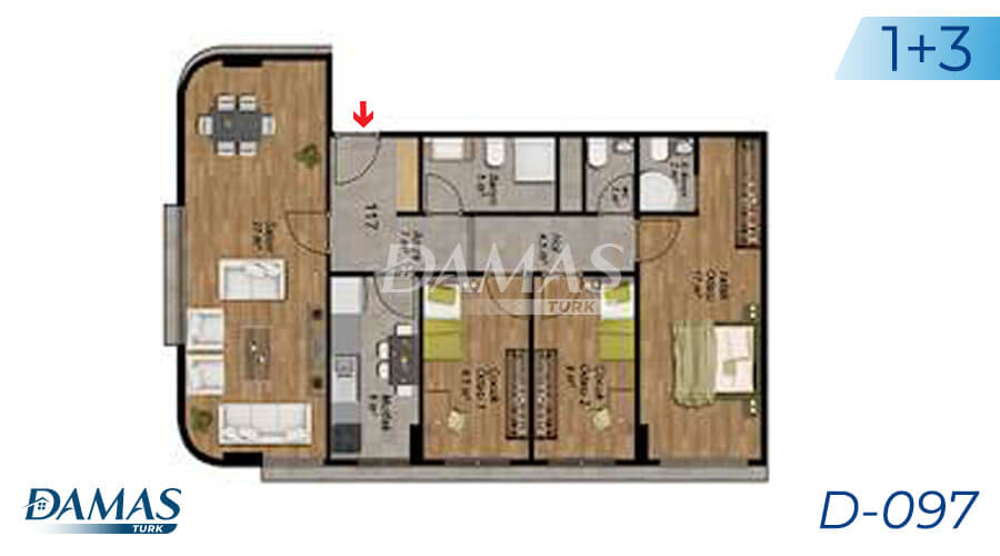 Damas Project D-097 in Istanbul - Floor Plan picture  03