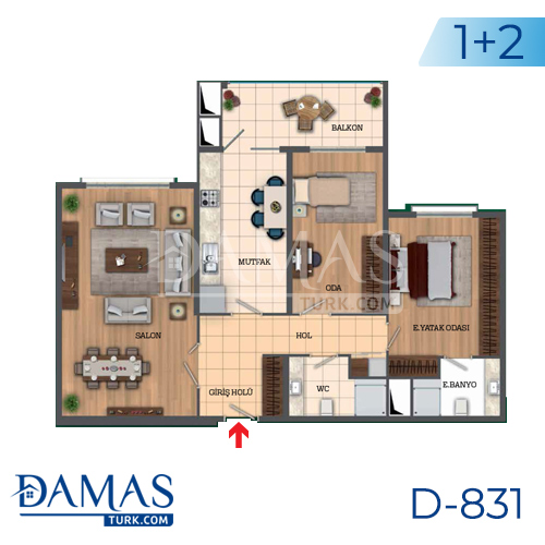 Damas Project D-831 in Istanbul - Floor Plan picture 03