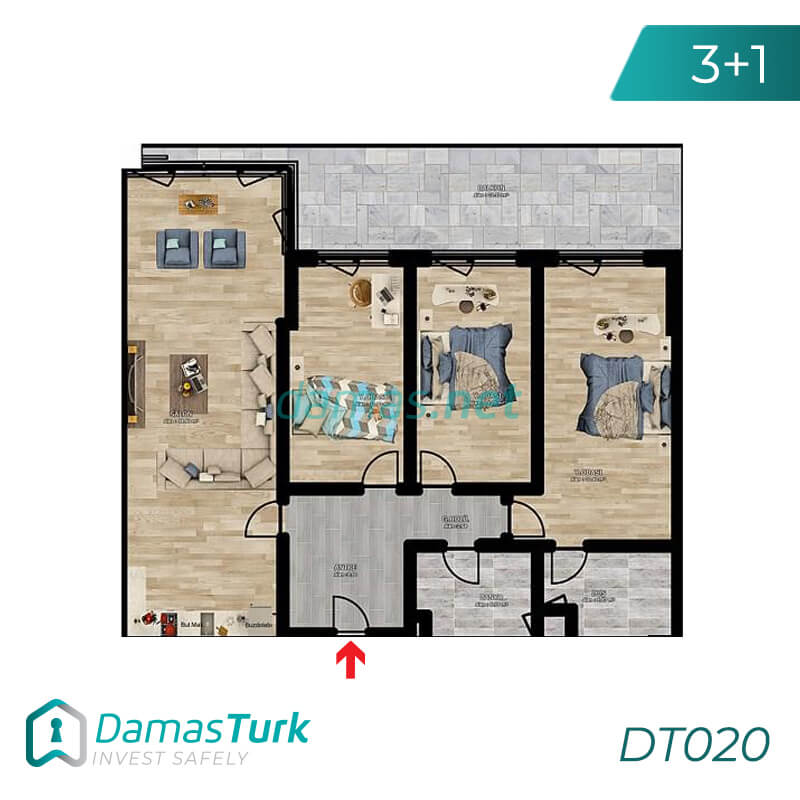 Investment complex with magnificent sea views and comfortable installments in Trabzon, Ortahstar area - DT020 || damas.net 02