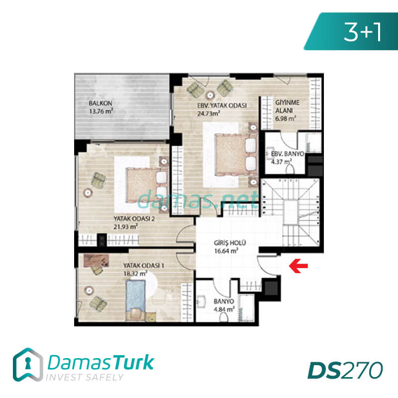 Under construction complex with installment plan in istanbul , basak sehir DS270 || damas.net 01