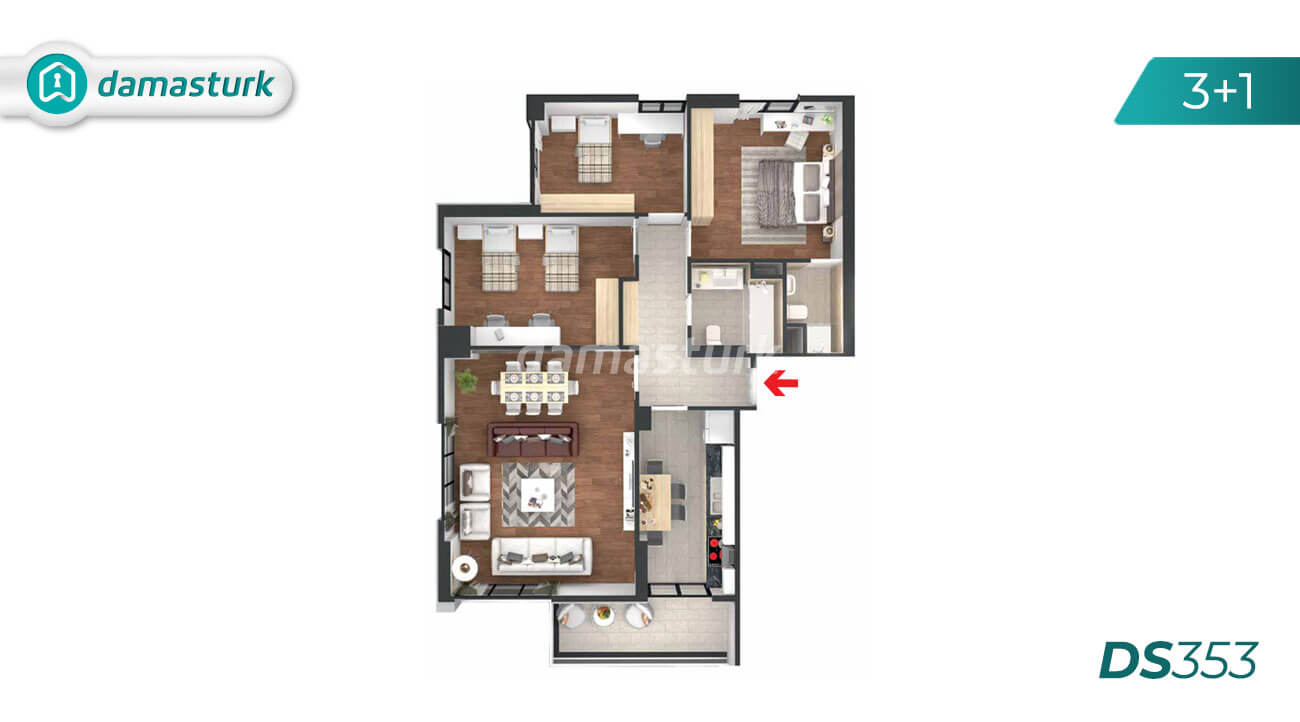 Apartments for sale in Turkey - Istanbul - the complex DS353 || damasturk Real Estate Company 03