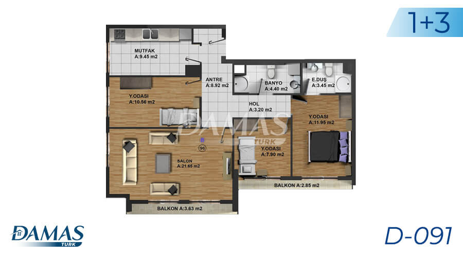 Damas Project D-091 in Istanbul - Floor Plan picture 03