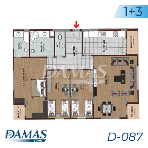 Damas Project D-087 in Istanbul - Floor Plan picture 02