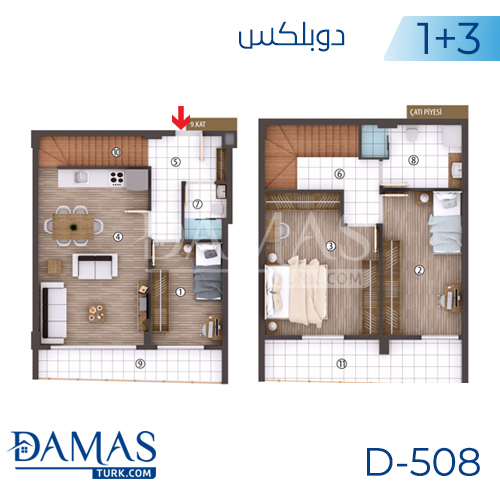 Damas Project D-508 in kocaeli - Floor plan picture 03