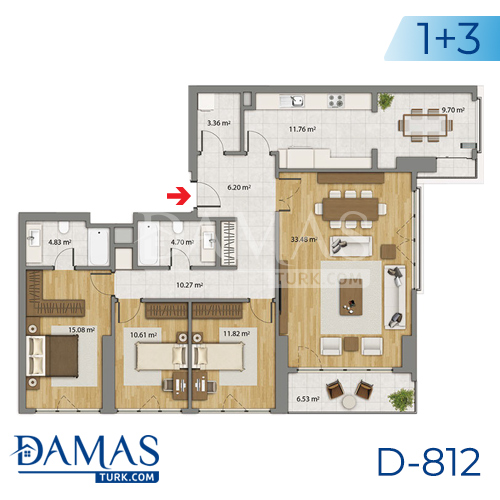 Damas Project D-806 in Istanbul - Floor plan picture 03