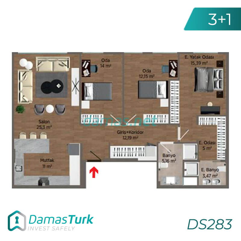 Ready to Move investment apartment complex with a magnificent sea view in Istanbul European, of Buyukcekmece area DS283 || damas.net 02