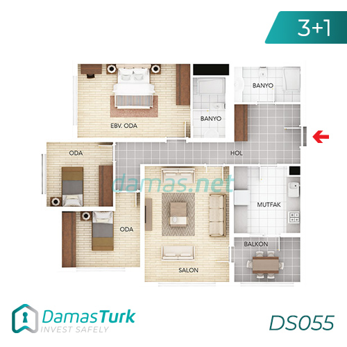 Istanbul Property - Turkey Real Estate - DS055 || damas.net 02