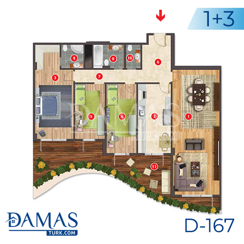 Damas Project D-167 in Istanbul - Floor plan picture  03