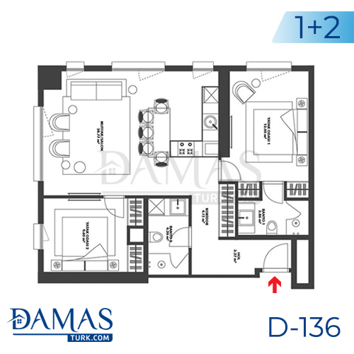 Damas Project D-136 in Istanbul - Floor plan picture 03